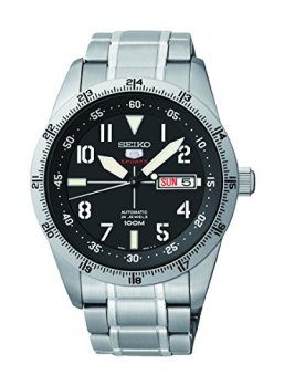 Seiko 5 Sports Automatic Black Dial Stainless Steel Mens Watch SRP513 by Seiko Watches