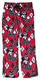 DC Comics Harley Quinn Red Superminky Fleece Lounge Sleep Pants, Small / 4-6