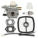 Buckbock Carburetor for C1U-K51 C1U-K45 Echo HC-1500 HC-1600 HC-1800 HC-2000 HC-2400 HC-2410 SRM-2100 SRM-2110 GT-2000 GT-2000R PAS2000 PAS-2100 SRM-2410 PP-1200 Trimmer with Air Filter Fuel Line Kit