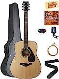 Yamaha FG800 Acoustic Guitar - Natural Bundle with Gig Bag, Tuner, Strings, Strap, Picks, Austin Bazaar Instructional DVD, and Polishing Cloth