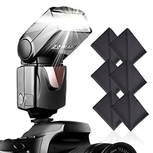 Speedlite Flash, SAMTIAN Professional Camera Flash for Canon Nikon Panasonic Olympus Pentax and Other DSLR Cameras with Standard Hot Shoe