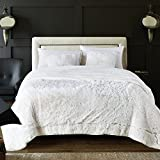 Chanasya Super Soft Shaggy Longfur Throw Blanket | Snuggly Fuzzy Faux Fur Lightweight Warm Elegant Cozy Plush Sherpa Fleece Microfiber Blanket | for Bed Couch Living Bed Room - King - White