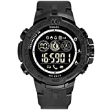 WoCoo Bluetooth Sport Waterproof Smartwatch with Remote Camera Call Reminder Digital Wristwatch Compatible with iOS Android(Black)