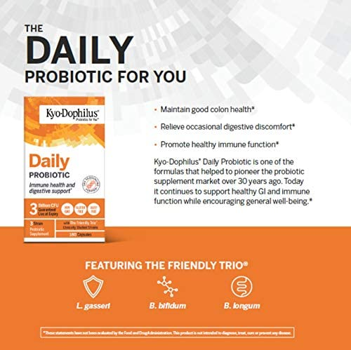 Kyo-Dophilus Daily Probiotic, Immune and Digestive Support, 360 capsules (Packaging may vary) 4