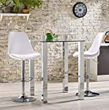 SAVYA HOME Curvy Kitchen Stool/BAR Stool (Combo Qty-2) White Color