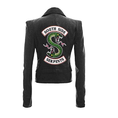 Riverdale Southside Serpents Biker Gang Black Faux Leather Jacket