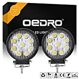 oEdRo 2pcs 4inch LED Work Light 27W Round Spot Lamp Offroad Fog Driving Lights LED Light Pod Fit for Car Boat Pickup SUV Jeep ATV UTE 4X4 4WD 3 Years Warranty