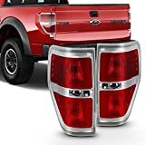 For [Red Clear] 2009-2014 Ford F150 F-150 Styleside Pickup Truck Rear Tail Lights Brake Lamp Replacement