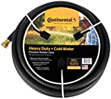 Continental Premium Cold Water Heavy Duty Black EPDM Garden Hose, 5/8' ID x 50' Length Reel