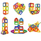 Soyee Magnetic Blocks STEM Educational Toys for 3+ Year Old Boys and Girls Creative Construction Fun Magnetic Tiles Kit Gifts for Toddlers - 30pcs Starter Set