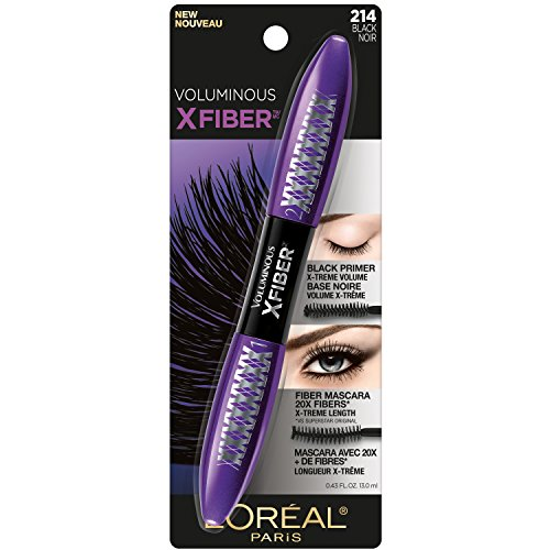 L'Oréal Paris Makeup Voluminous X Fiber Mascara with Black Primer