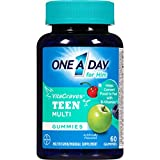 One A Day VitaCraves Teen For Him Multivitamin Gummies Supplement with Vitamins A, C, E, B3, B6, B12, Calcium, and Vitamin D, 60 count