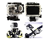 Brobeat 1080p 12MP Sports Waterproof Camera With Micro Sd Card Slot And Multi Language Action Video Waterproof Camera Up To 30M 2 Inch LCD Super Wide Angle (Random Colour)