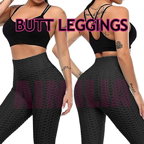 AIMILIA Butt Lifting Anti Cellulite Sexy Leggings for Women High Waisted Yoga Pants Workout Tummy Control Sport Tights 5