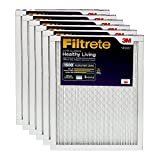 Filtrete 20x20x1, AC Furnace Air Filter, MPR 1500, Healthy Living Ultra Allergen, 6-Pack