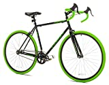 Takara Kabuto Single Speed Road Bike, Medium/54cm, Black/Green