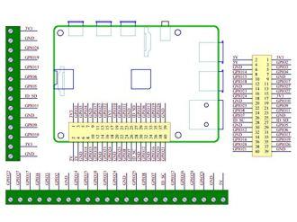 Electronics-Salon-DIN-Rail-Mount-Screw-Terminal-Block-Adapter-Module-for-Raspberry-Pi-A-3A-B-2B-3B-3B-4B-Zero-Zero-W