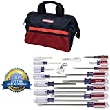 Craftsman 9-31794 Slotted Phillips Screwdriver Set, 17 Piece and Craftsman 9-37535 Soft Tool Bag, 13' Bundle