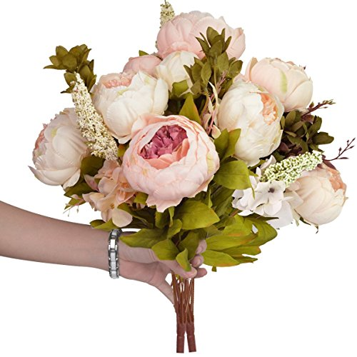 Vintage artificial peony silk flowers bouquet hmxpls craft fake vintage artificial peony silk flowers bouquet hmxpls craft mightylinksfo