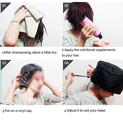 51TIud57AQL PETRICE Hair Care SPA Cap Beauty Steamer Hair Thermal Treatment Nourishing Hat