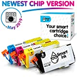 Smart Ink Re-Manufactured Ink Cartridge Replacement for HP 902 XL 902XL (Black L & C/M/Y XL 4 Pack Combo) to use with Officejet 6951 6954 6956 6958 6962 6950 Officejet Pro 6968 6974 6975 6978 6960