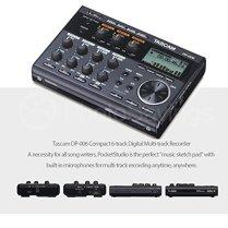 Tascam-DP-006-6-Track-Digital-Pocketstudio-and-Deluxe-Accessory-Bundle-wHeadphones-Case-Cables-16GB-Xpix-Tripod-More