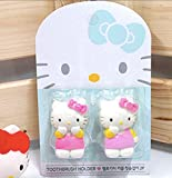 Hello Kitty Couple Kids Toothbrush Holders 2PC (1 Pink + 1 Hot Pink)