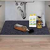 Under The Sink Mat,Kitchen Tray Drip,Premium Cabinet Liner, Absorbent,Waterproof,Reusable,Washable, Protects Cabinets,Drawers,Contains Liquids (36inches x 24inches)