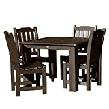 Highwood AD-DNL44-ACE Lehigh 5-Piece Square Dining Set, 42-Inch, Weathered Acorn, Height