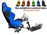 Openwheeler GEN2 Racing Wheel Stand Cockpit Blue on Black | Fits All Logitech G29 | G920 | All Thrustmaster | All Fanatec Wheels | Compatible with Xbox One, PlayStation, PC Platforms