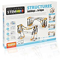 With Engino structures: buildings and bridges set learn all about buildings and how they literally support our lives! construct different types of bridges and find out how their architecture design provides massive weight support. Discover all the ty...