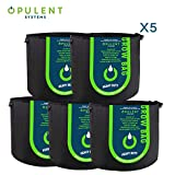 OPULENT SYSTEMS 5-Pack 5 Gallon Grow Bags Heavy Duty Aeration Fabric Growing Bag Thickened Nonwoven Fabric Containers for Potato Plant Pots with Handles (Black) ...