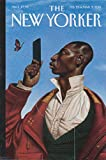 New Yorker cover 2/23 2015 K Nelson: African-American Eustace Tilly & smartphone