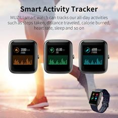 Muzili-Smart-Watch-IP68-Waterproof-Fitness-Tracker-for-Swimming-13-Large-Color-Full-Touch-Screen-Sport-Watch-with-Heart-Rate-Monitor-Sleep-Monitor-Pedometer-9-Sports-Modes-10-Days-Running-Time-for-Boy