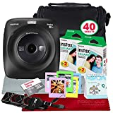 Fujifilm Instax Square SQ20 Hybrid Instant Camera (Black) - Deluxe Accessory Bundle with 40 Sheets of Instant Film + 16GB Micro sd Card + Case + Xpix Camera Strap and More. (USA Warrantty)