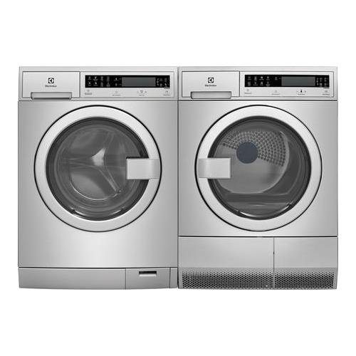 Electrolux Stainless Steel Front Load Compact Laundry Pair with EFLS210TIS 24' Washer and EFDE210TIS 24' Electric Dryer
