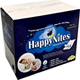 HappyNites Disposable Incontinence Bed Pads - 1500ml High Absorbency Disposable Underpads Bed Liner Mats, 10g SAP Super Waterproof Mattress Pad Protector for Adults and Kids (30Pack w/Sticky Tags)