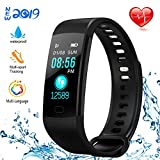 NUHIWIY Fitness Tracker,Activity Tracker,Heart Rate Monitor,Waterproof Smart Watch,Calorie Counter,Sleep Monitor,Pedometer,Fitness Tracker for Women,Men,Kids,Multi-Language,Android and iOS,Bluetooth