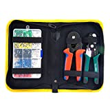 Ferrule Wire Terminal Block Crimping Tool Plier Tool Kit Set with 1640pcs, Wire Crimping Tool Kit with Wire Cutter, Ferrule Crimper Pliers for Stripper, Wiring Projects with Storage Bag