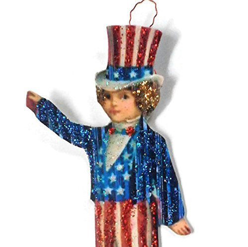 Fourth of July Ornament Decoration American Flag Patriotic Boy Holiday Handmade Gift