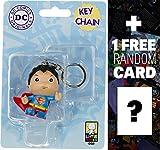 Superman: Little Mates x DC Universe Mini-Figure Keychain + 1 FREE Official DC Trading Card Bundle