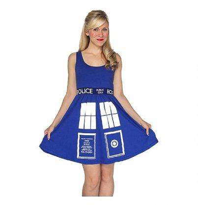 Doctor Who- Tardis Costume Dress Mini Dress Size M