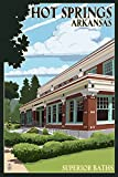 Hot Springs National Park, Arkansas - Superior Baths (12x18 Collectible Art Print, Wall Decor Travel Poster)