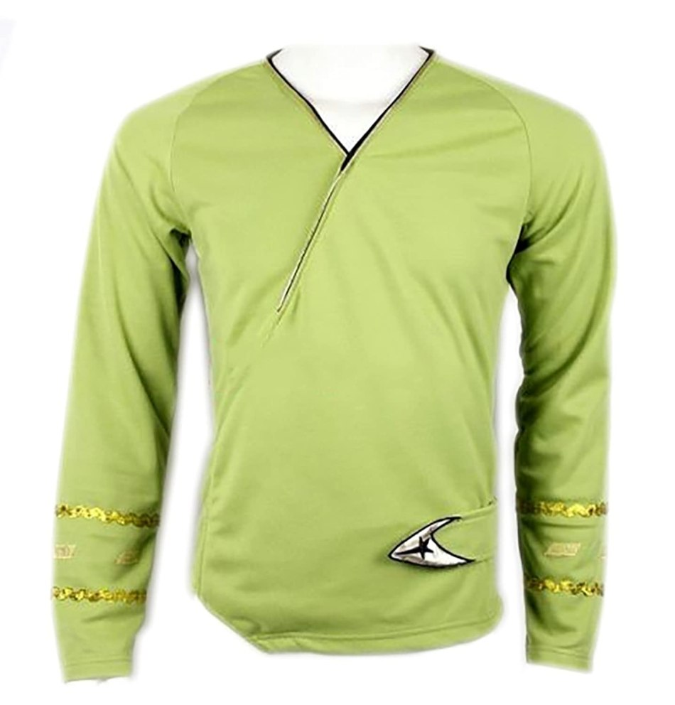 Star Trek Green Wrap Command Uniform Costume Shirt
