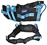 Transfer Gait Belt with 7 Loop Handles Grips & Easy Release 60 inches Plastic Buckle. Available in Metal Buckle.