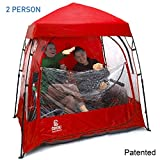 EasyGoProducts CoverU Sports Shelter – 2 Person Weather Tent Pod (RED) – Patents Pending