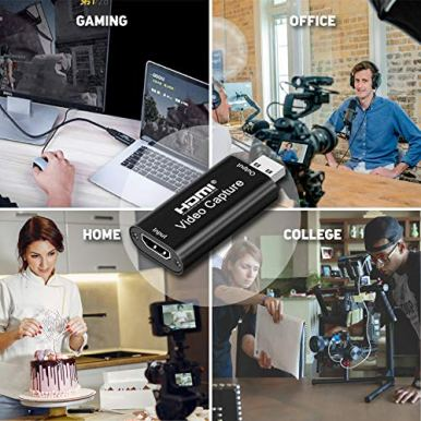 GOODROAD-Audio-Video-Capture-Card-HDMI-to-USB20-High-Definition-1080p-Record-via-DSLR-Directly-to-Computer-for-Gaming-Video-Conference-Teaching-Plug-Play