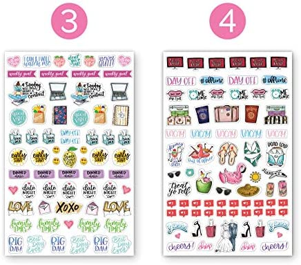 bloom daily planners New Classic Planner Sticker Sheets - Variety Sticker Pack - 417 Stickers Per Pack! 3