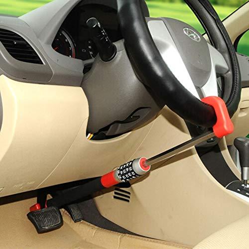 xj Car Code Lock,Car Anti-Theft Device, Brake Pedal/Steering Wheel Lock, Locking bar, Anti Theft Protection, Steering Wheel Clutch Lock,Adjustable Length Lock
