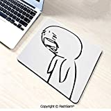 Non-Slip Rubber Mouse Pads Sad Guy Upset Crying Popular Rage Comic Generator Style Online Emoji Print for Computers Laptop Office(W7.8xL9.45)